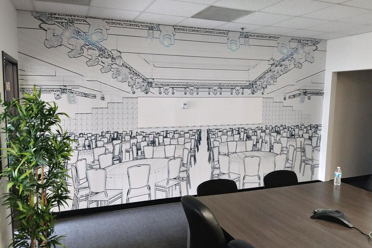 Transform your office with wall murals