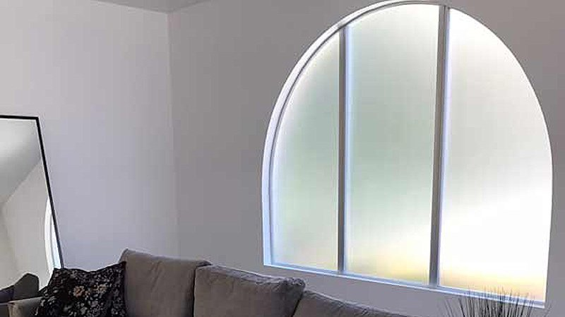 Frosted film for windows