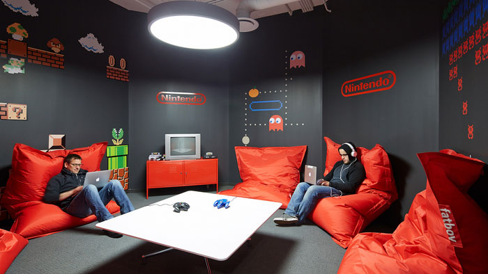 Avant office in Chicago with Nintendo wall decals