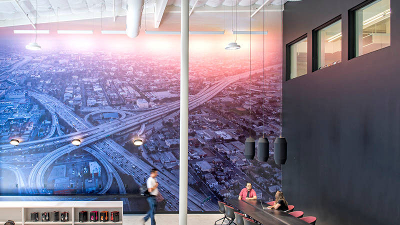 Beats by Dre office design wall mural