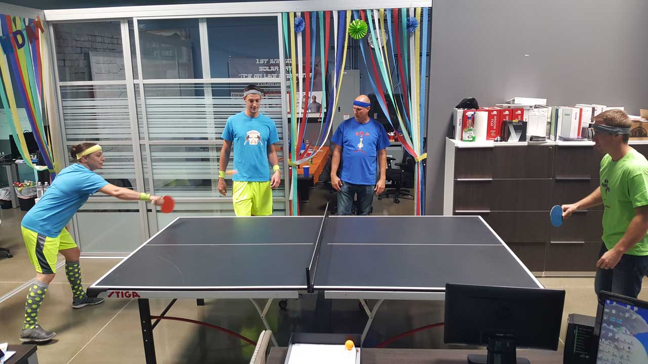 company ping pong party