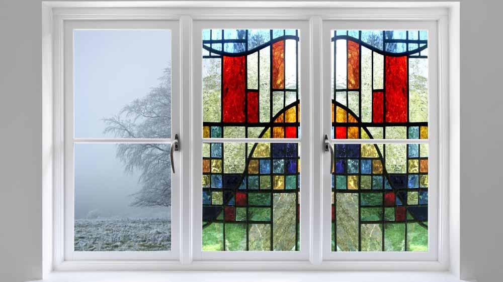 decorative privacy window film-stained glass SXEG-1033 Elite Visualizer