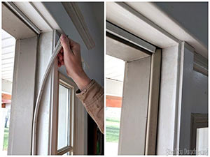 Weatherstripping to reduce heat