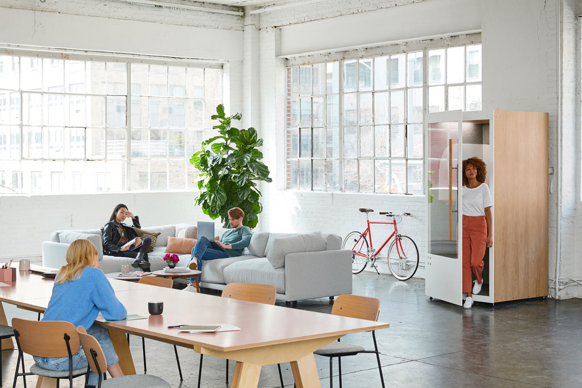 Collaborative offices promote team socializing