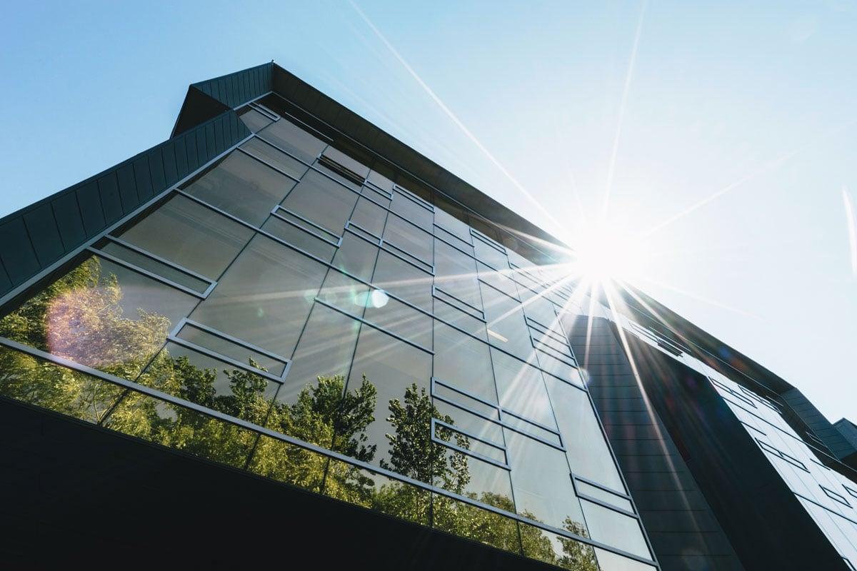 Install window film for energy efficiency