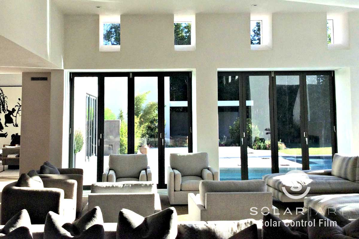 Ceramic Window Tint Installation to a Home in Brentwood, California