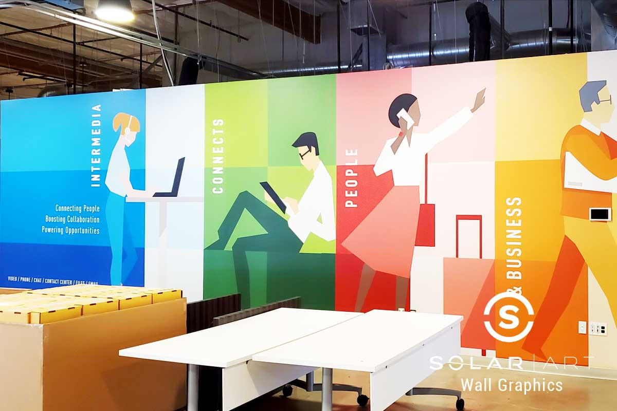Wall Graphics for Cascade Yard Campus in Bellevue, WA