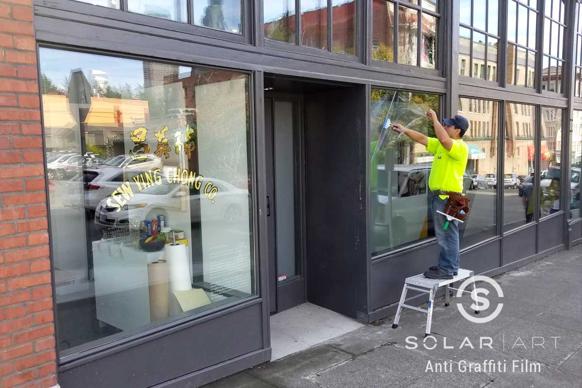 Anti Graffiti Installation to a Commercial Building in Seattle, Washington