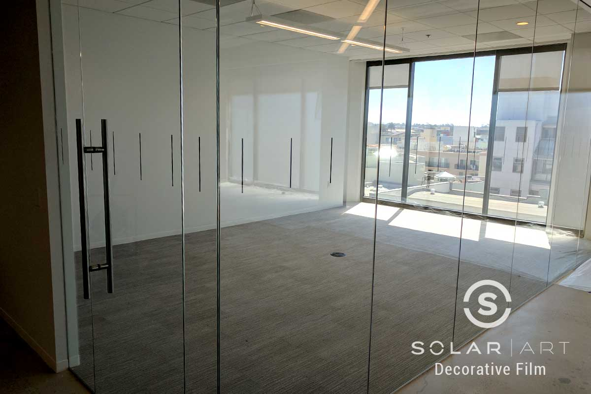 Decorative Window Film Installation at an Office in Hollywood, California