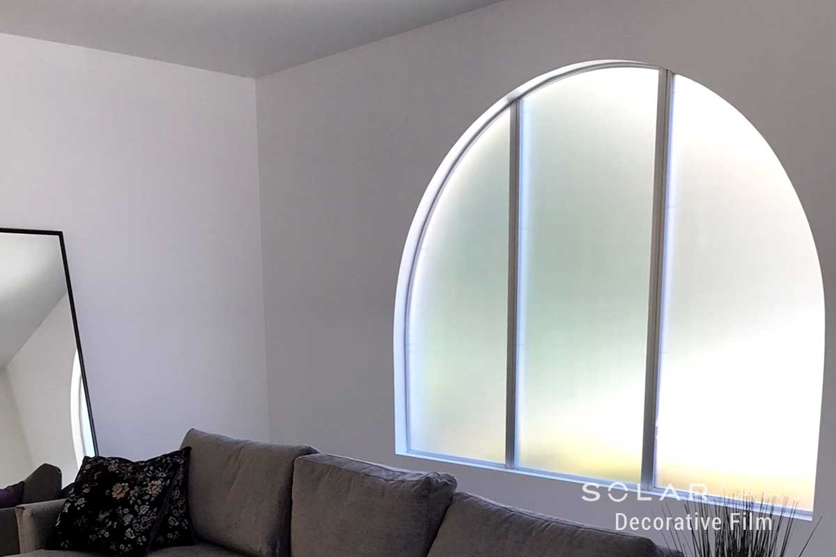 Frosted Window Film Installation at a Home in Irvine, California