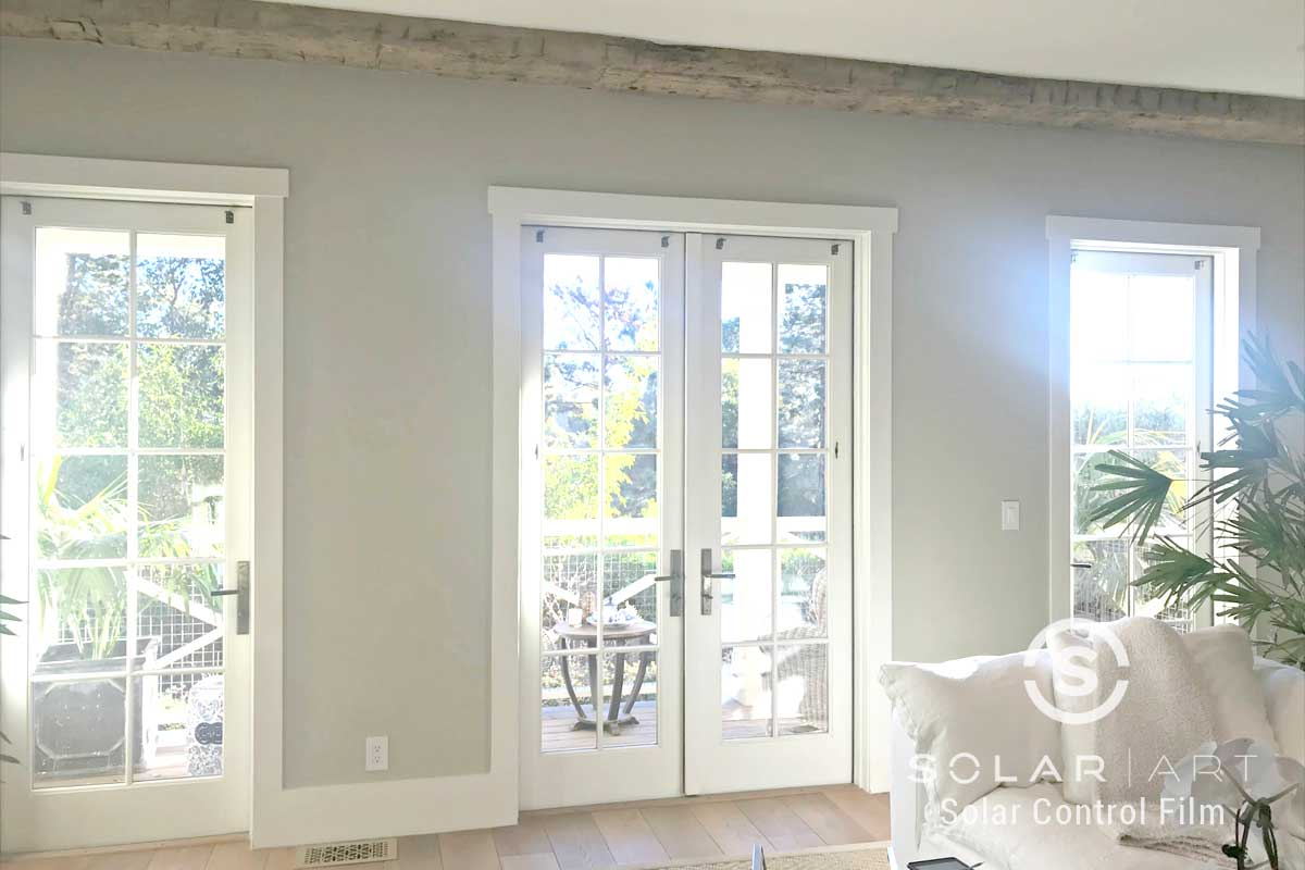Glare Reducing Window Film at a Home in San Diego, California